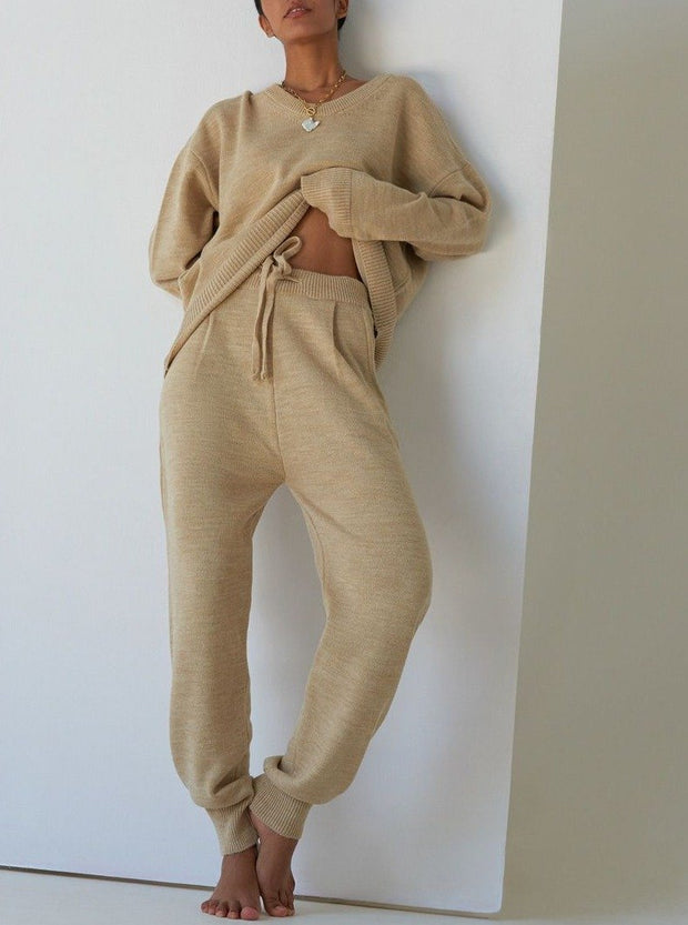 Women'S Fashion Knitted Long Sleeve Suit
