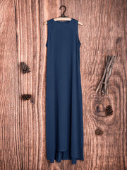 Strapless Sleeveless Round Neck Loose Casual Dress
