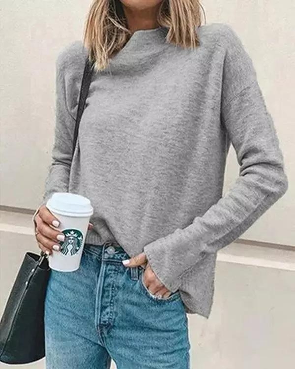 Women  Halloween Casual Turtleneck Pullover Shirt