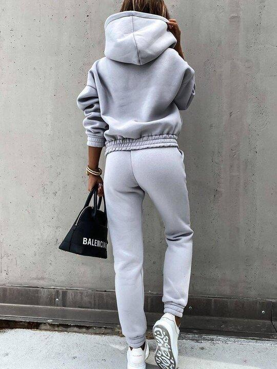 Women'S Hooded Sweatshirt Sports Suit