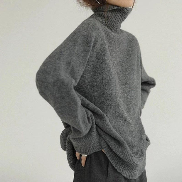 Women'S Fashion Loose Pullover Lazy Knit Sweater