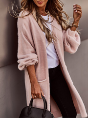 Women'S Fashionable And Comfortable Soft Sweater Cardigan Coat