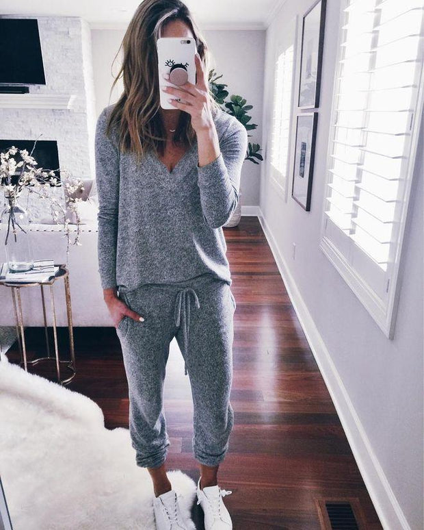Women'S Fashionable And Comfortable Casual Sweater Suit