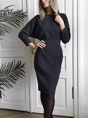 Women'S V-Neck Long Sleeves Look Thinner Before And After Wearing A Long Dress