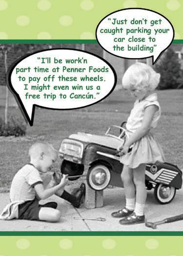 Penner Foods Parking Steinbach Nostalgia Funny Greetings by ObaYo.ca