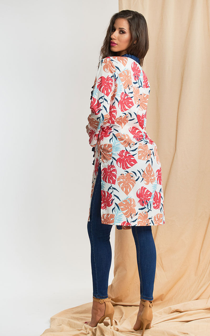 LAYER ESTAMPADO CON DENIM
