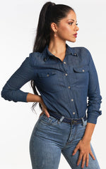 CAMISA DENIM CON EMBELLISHMENT