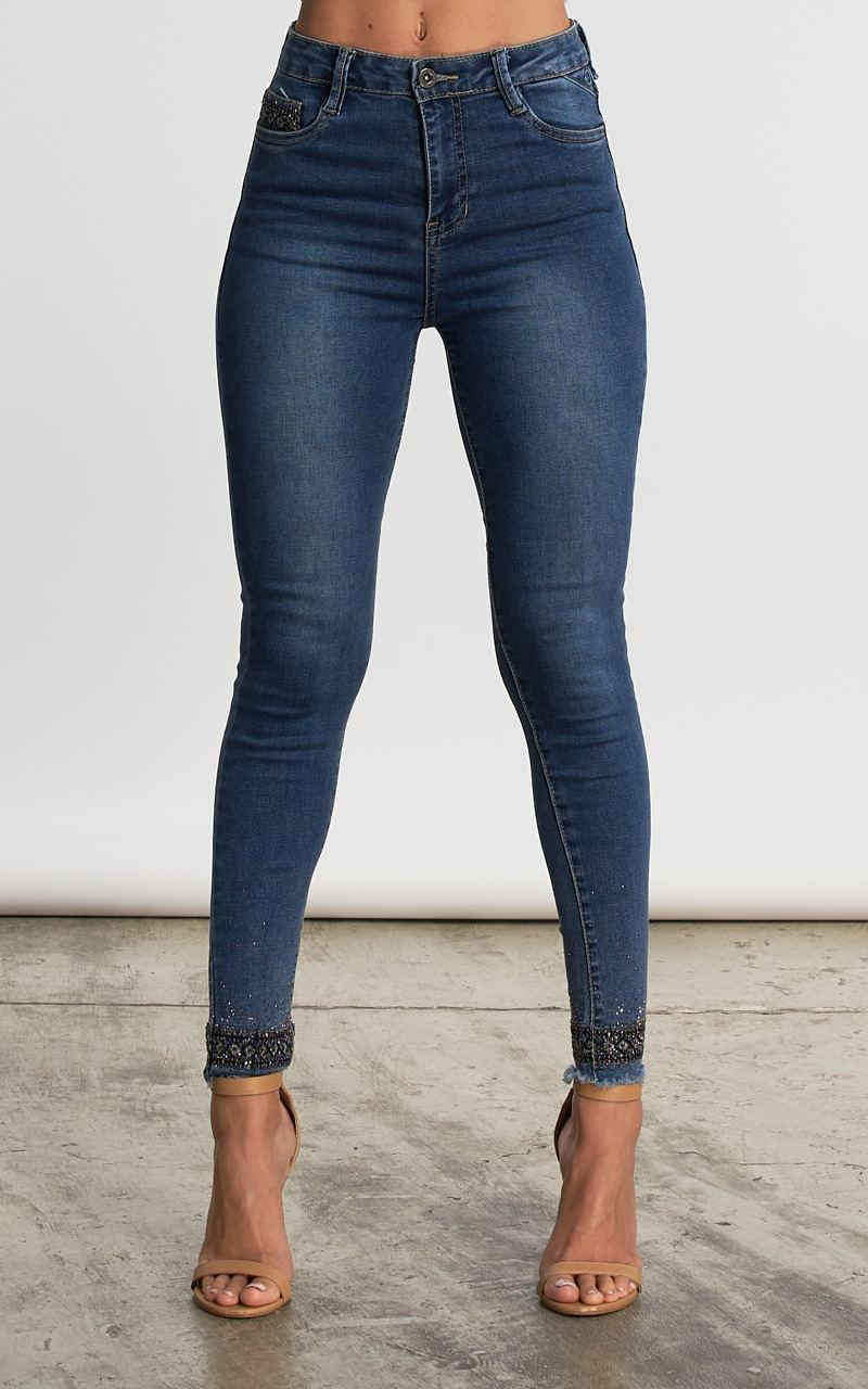JEANS SKINNY CON EMBELLISHMENT