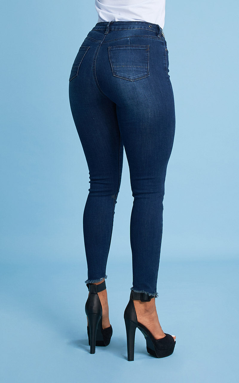 BONAGE WAIST PATCH SKINNY JEANS