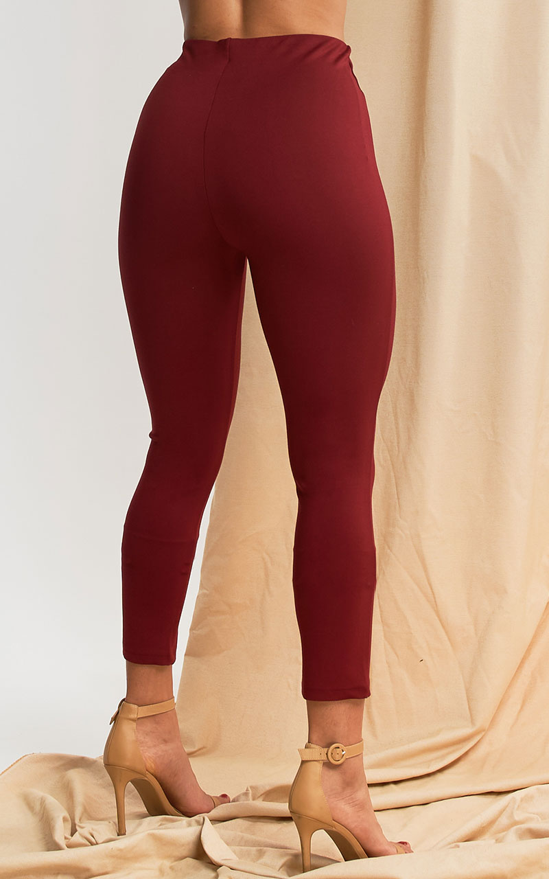 PANTALON DE TELA COLOR