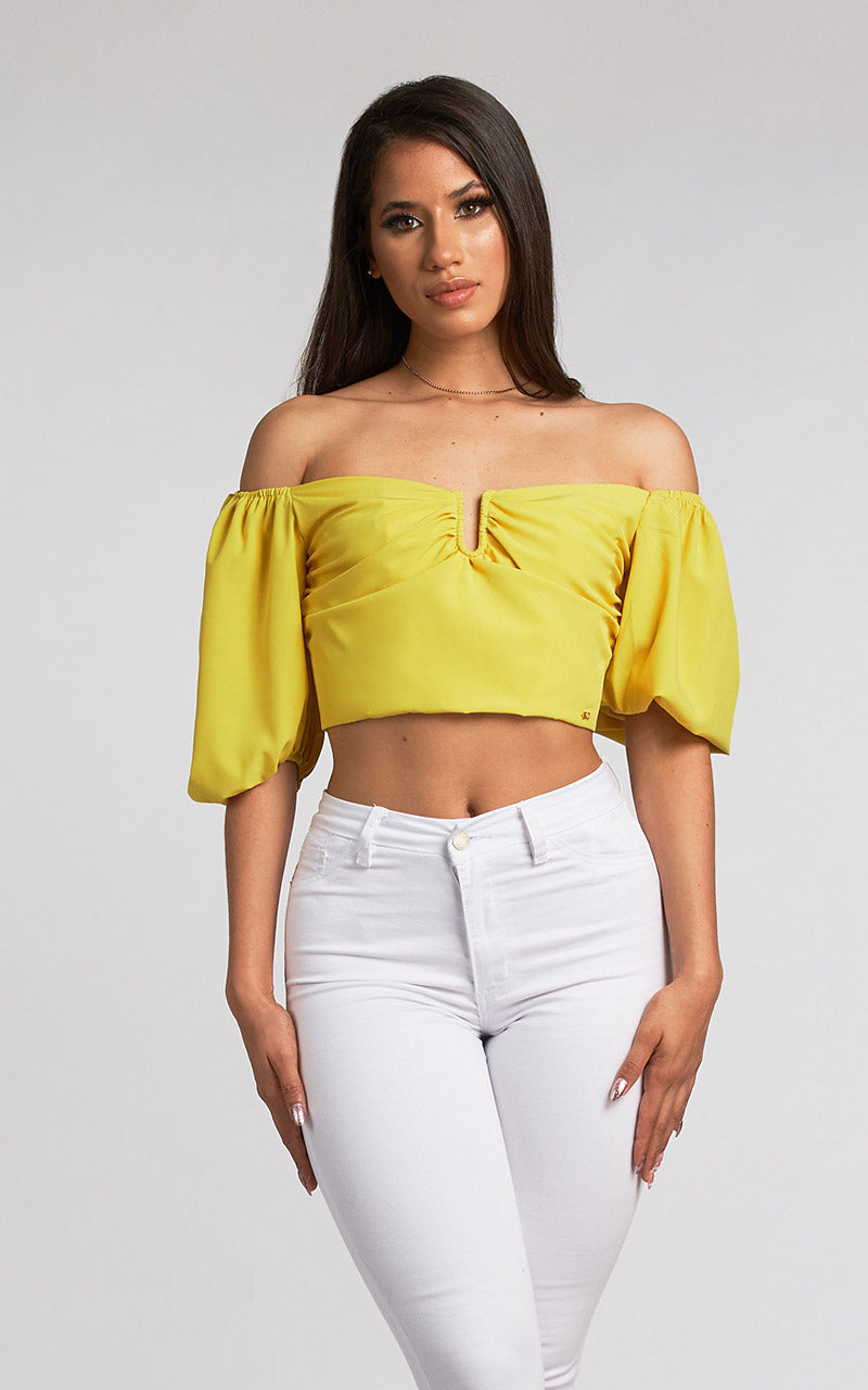 SUNSET SOLID COLOR CROP TOP
