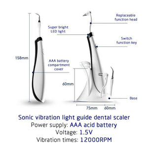 Dental Ultrasonic Plaque/Tartar Scaler & Calculus Stain Remover