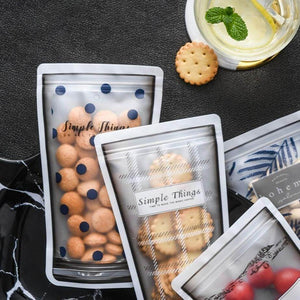 Reusable Clear Zipper Food Bag
