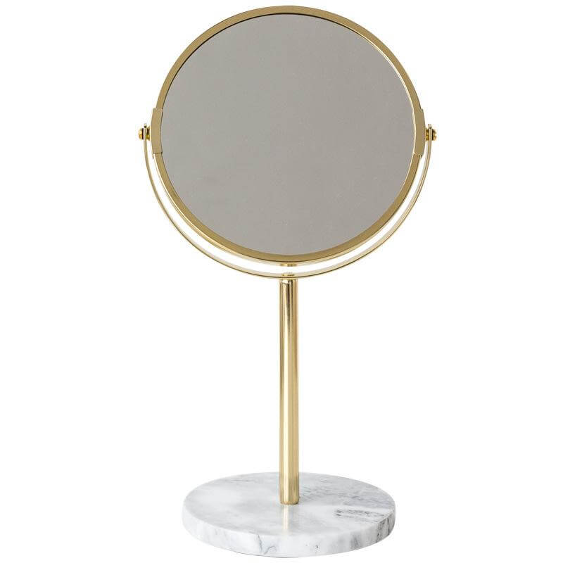 Ephesus Two-Sided Swivel Vanity Mirror with Marble Stand