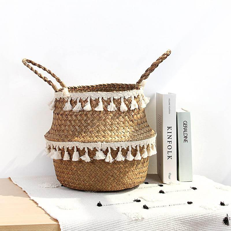 Handwoven Wicker Storage Basket