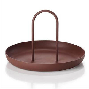 Round Trinket Tray with Removable Handle