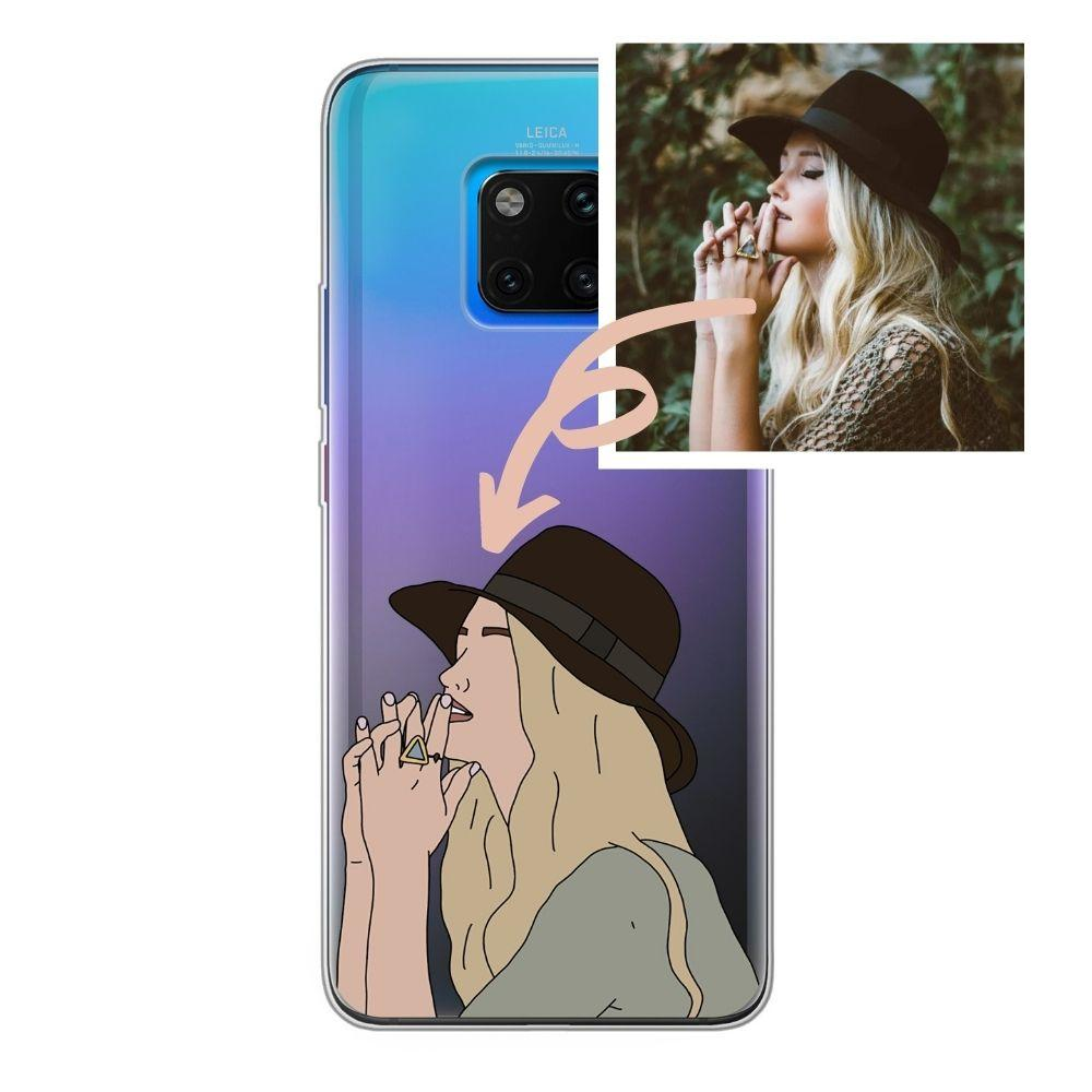 Huawei Handyhülle Custom Illustration Portrait - PinkSheeny