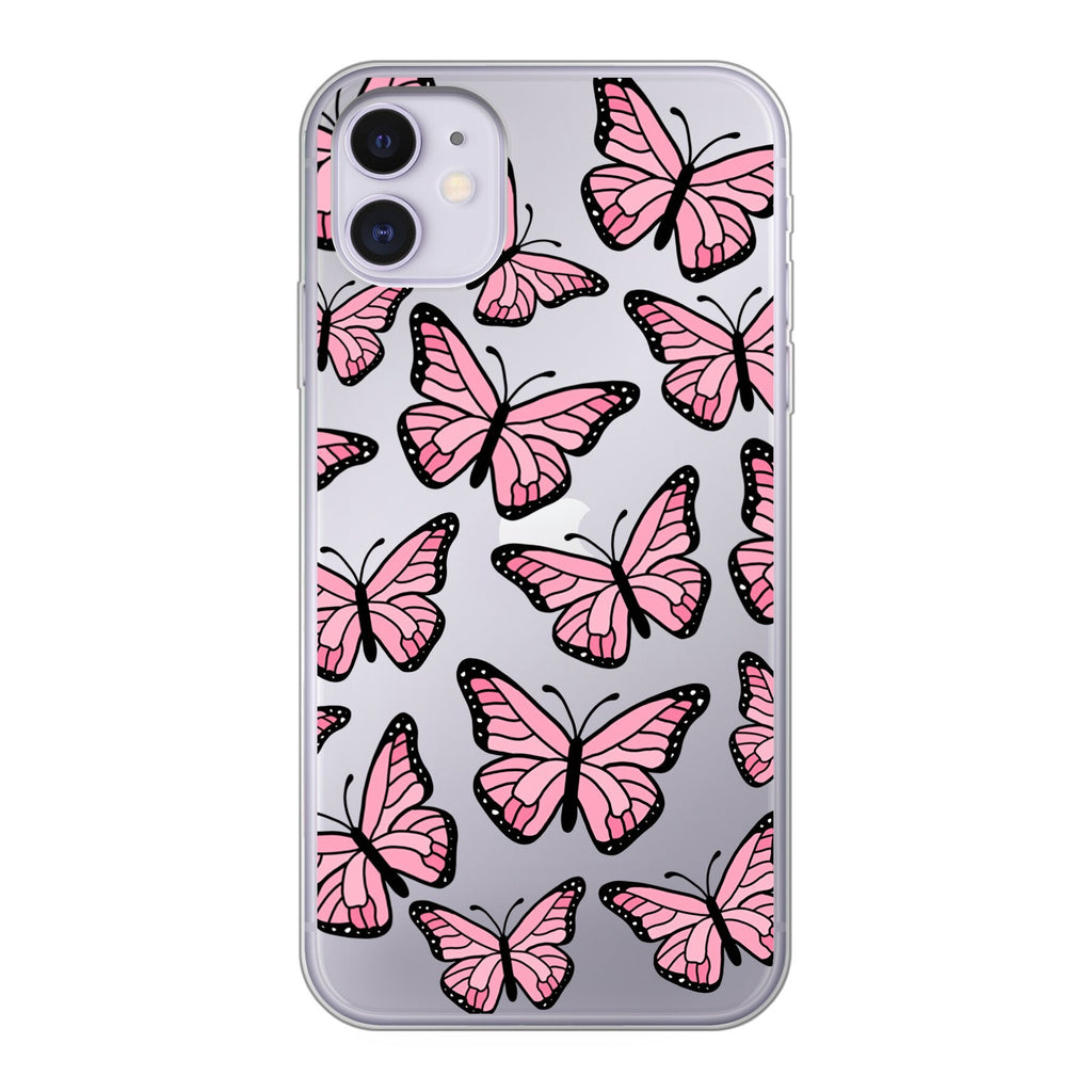 iPhone - Butterflies Handyhülle - PinkSheeny