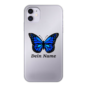 iPhone - Butterfly Handyhülle - Personalisierbar - PinkSheeny