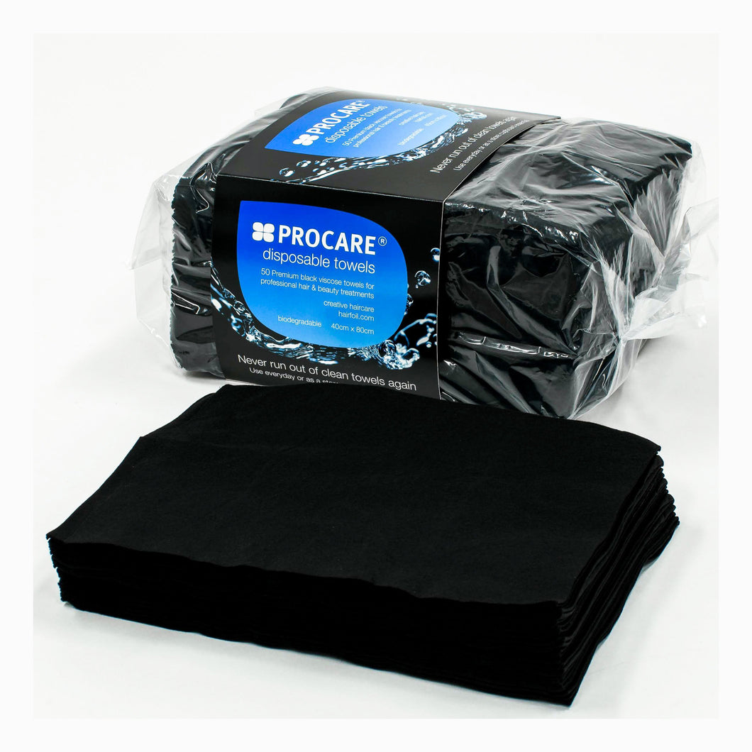 PROCARE 50 pcs Disposable Black Towels