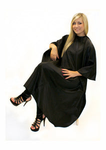 Unisex Gown Black With Poppers