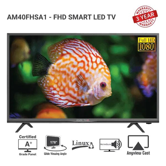 "Amstrad SMART LED TV - AM 40 FHSA1 (40""inch)"