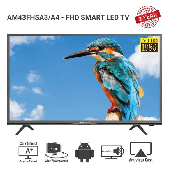 "Amstrad SMART LED TV - AM 43FHSA3 - (43""inch)"