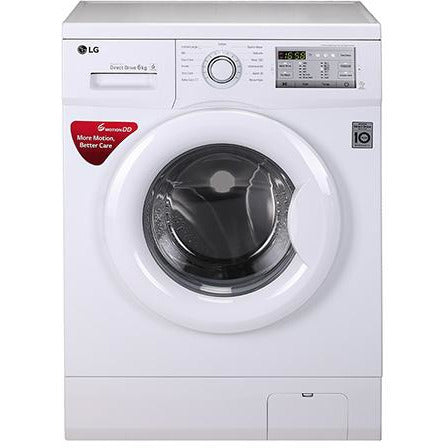 LG W/M - FH0H3NDNL02 6.0 Kg, 6 Motion Direct Drive Washer, Touch Panel, White, Smart Diagnosis™, Baby Care(Front load)