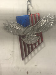 Eagle flag hanging art