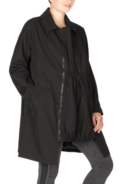 Maternity Trench Coat with belly panel