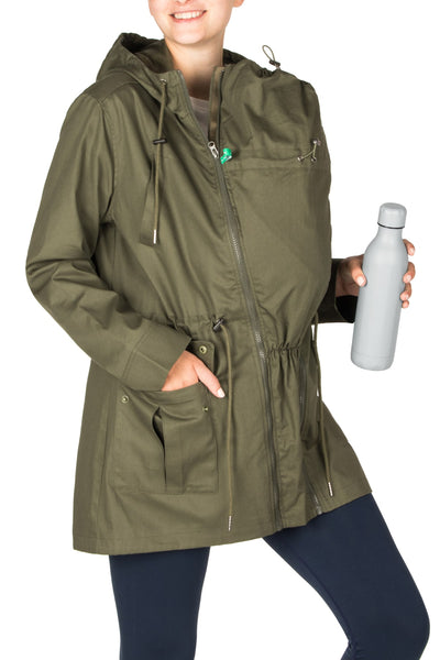 babywearing jacket khaki military