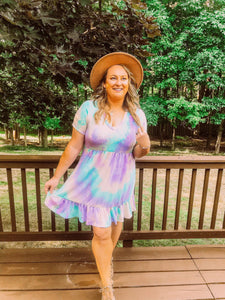 Tie Dye Mint Dress