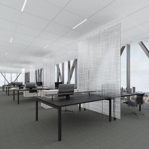 Office with wall partitions