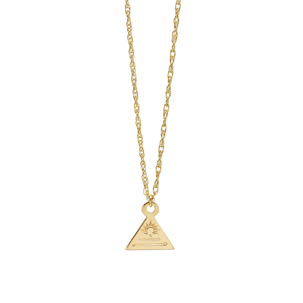 Triangle Token Necklace