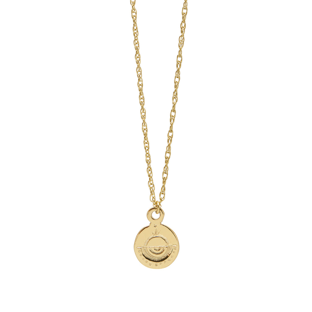 Circle Token Necklace