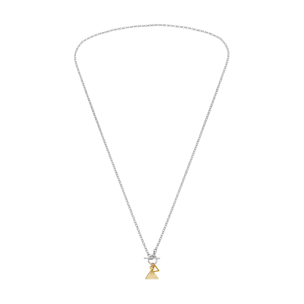 Triangle Ring and Bar Necklace