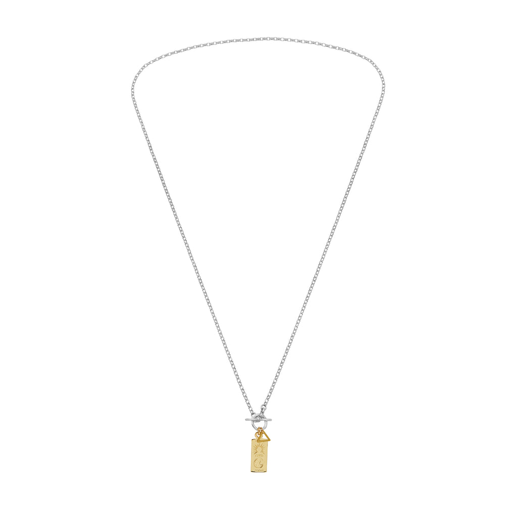 Rectangle Ring and Bar Necklace