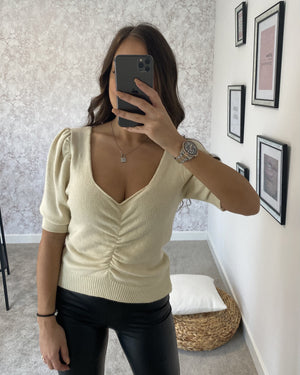 Top beige VIANA