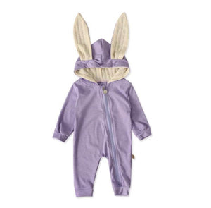 Cotton Bunny Onesie - PURPLE