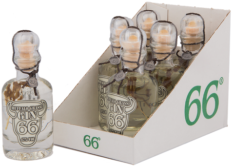 Buffalo Grass Gin 66® Miniflaschen - 6x40ml / 47% vol.