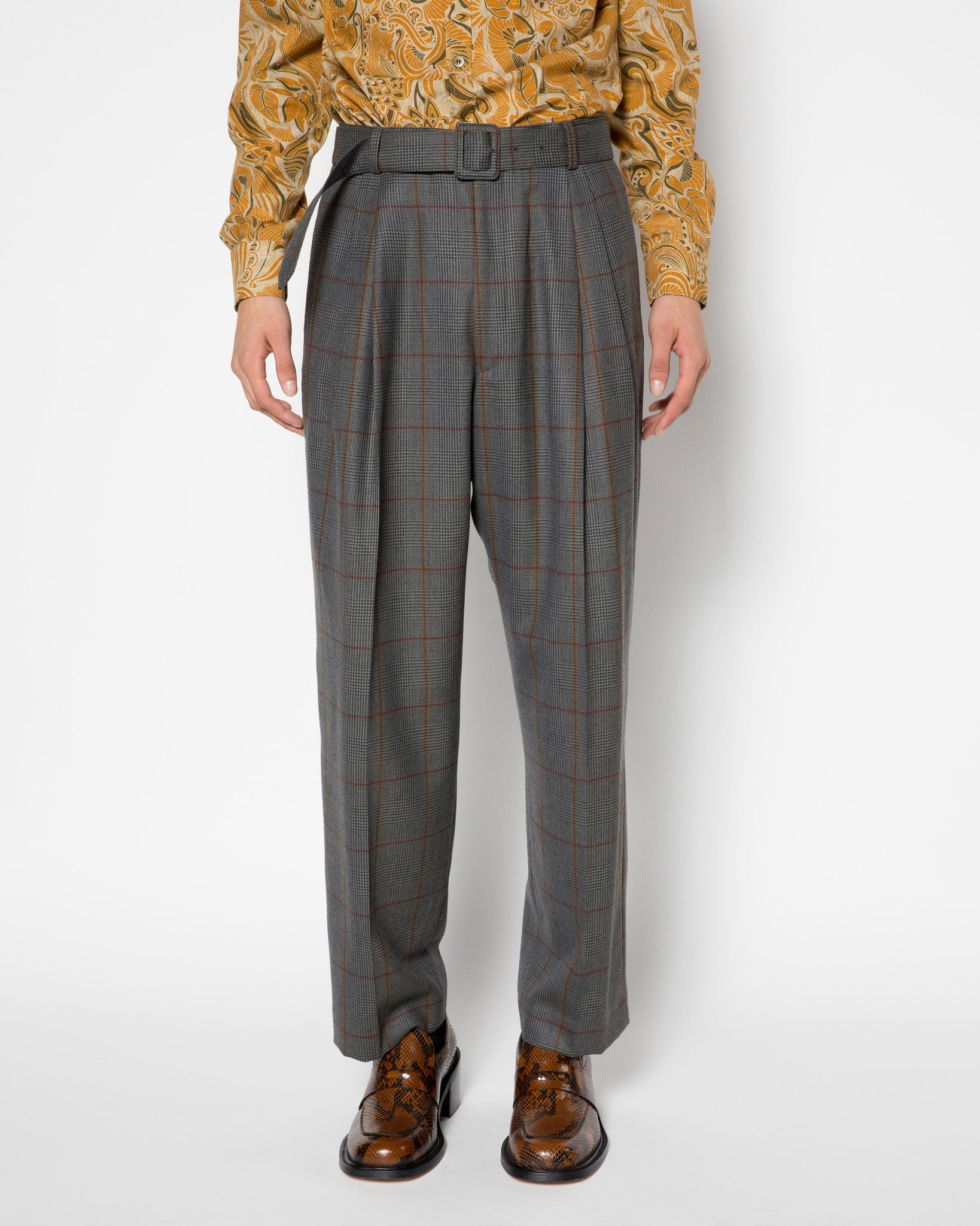 PHOENIX BIS pleated trouser