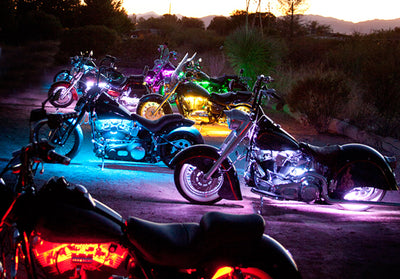 Cruiser Motorcycle 180 Multi-Color LED Kit
