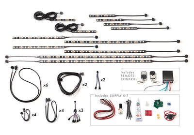 Touring Motorcycle 216 Multi-Color LED Kit