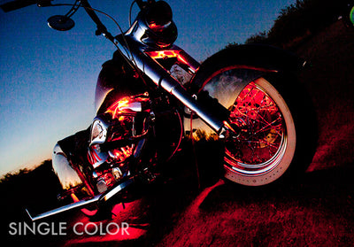 Cruiser Motorcycle 234 Single Color LED Kit