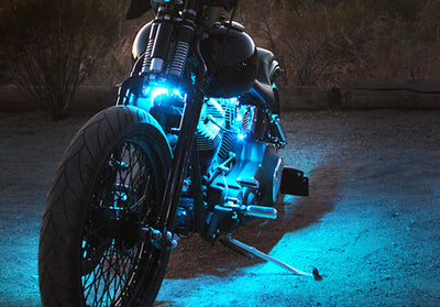 Cruiser Motorcycle 180 Single Color LED Kit