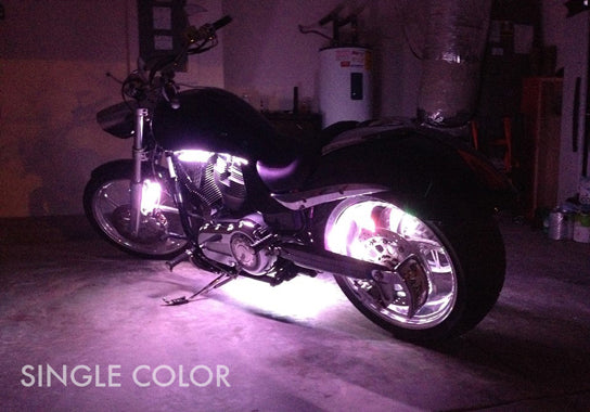 Cruiser Motorcycle 207 Single Color LED Kit