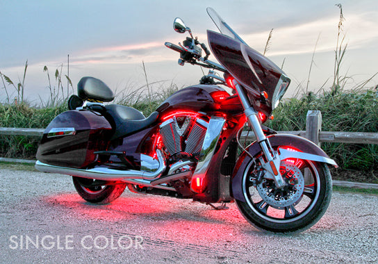 Cruiser Motorcycle 216 Single Color LED Kit