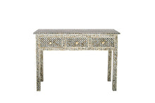 Load image into Gallery viewer, Bone Inlay Console Table - Geo Dark Grey