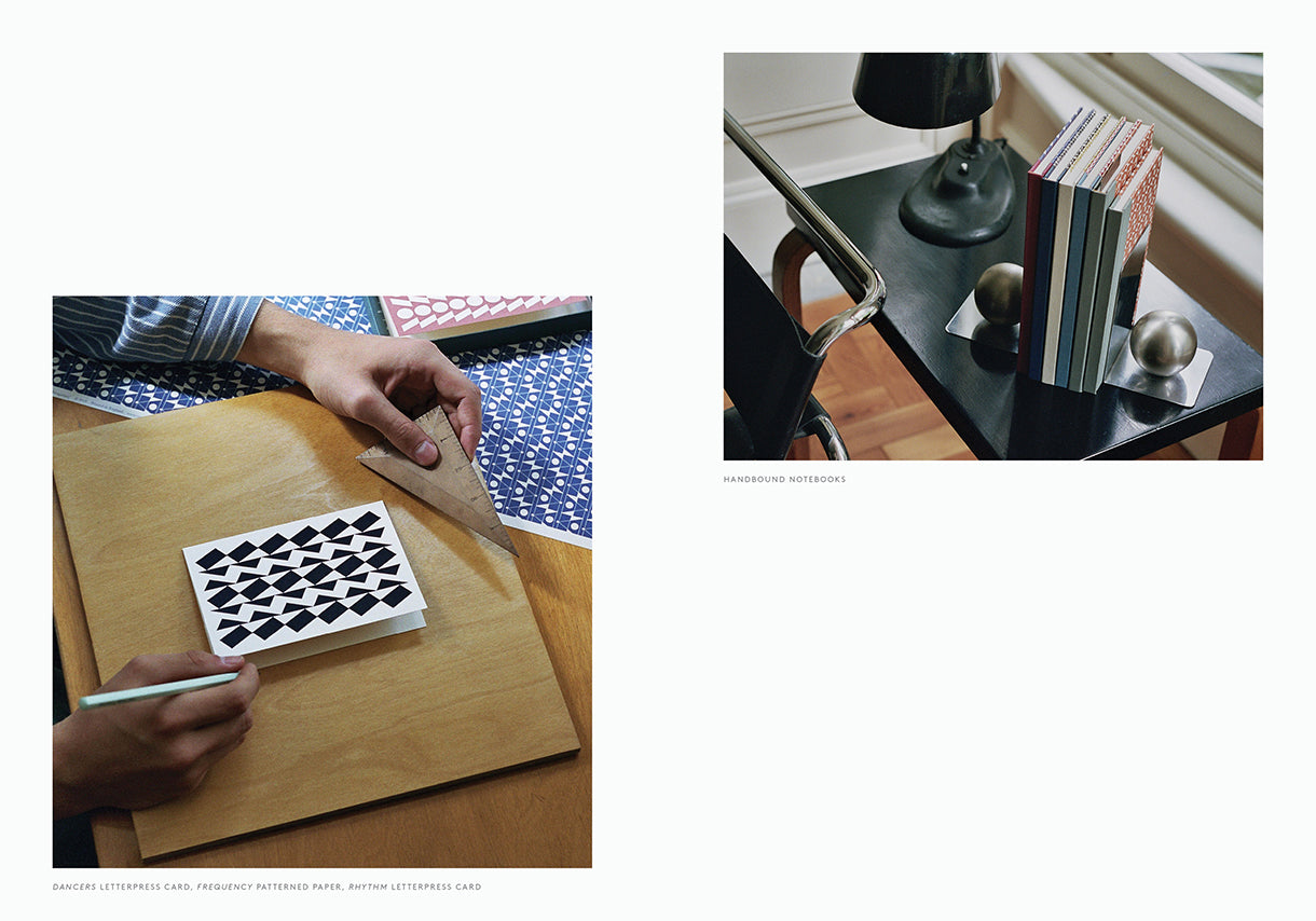 Esme Winter Lookbook, Alvar Aalto Desk, Hand Bound Notebooks, Letterpress Greetings Cards