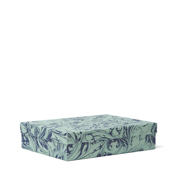 FANTASY Decorative Box<br>Navy / Pale Green